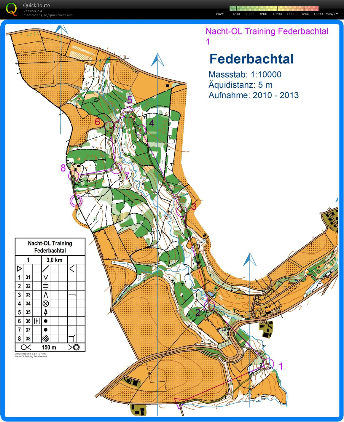 Night-O training Federbachtal (17/02/2013)