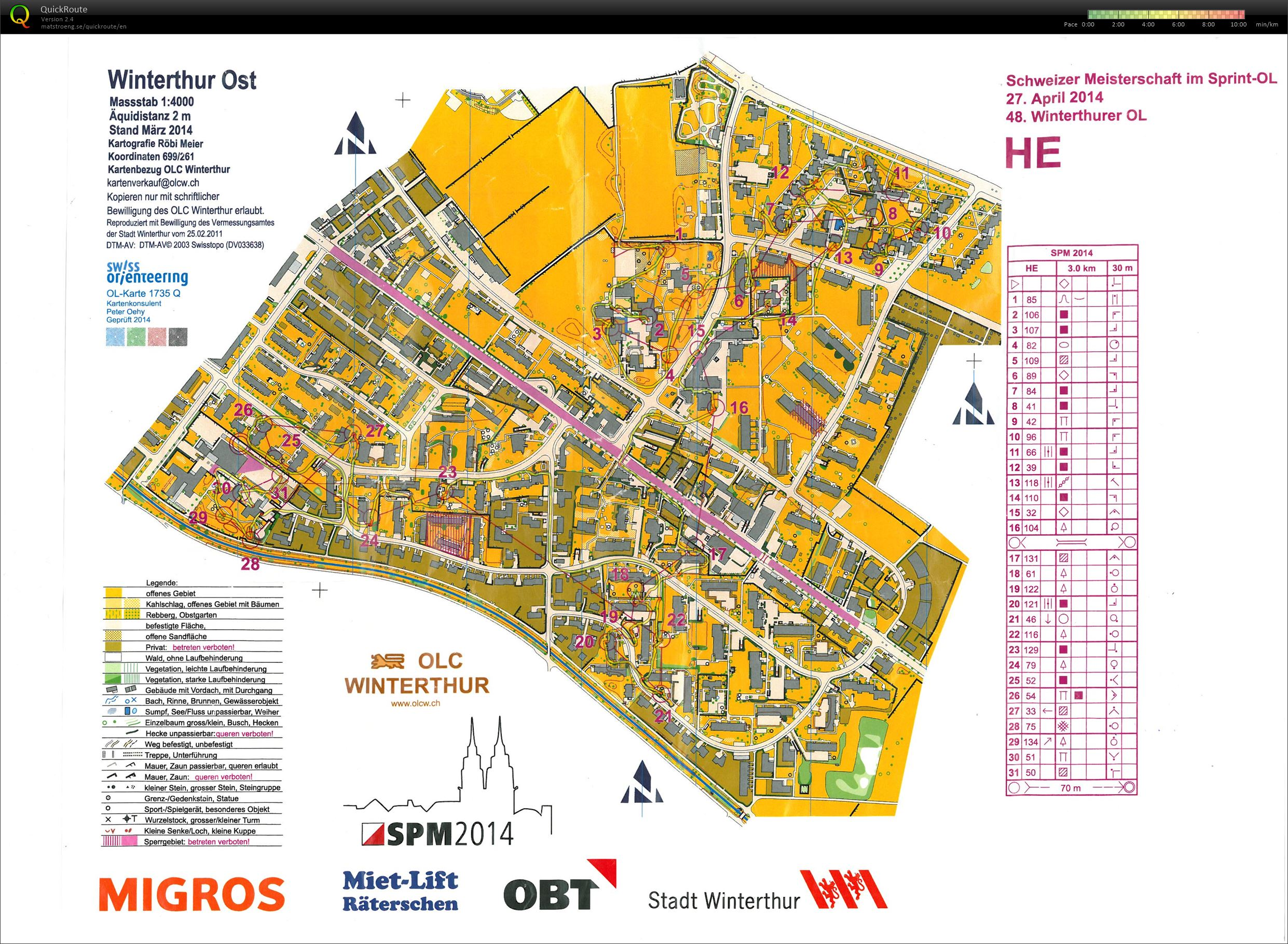 Swiss sprint champs (WRE) (27/04/2014)