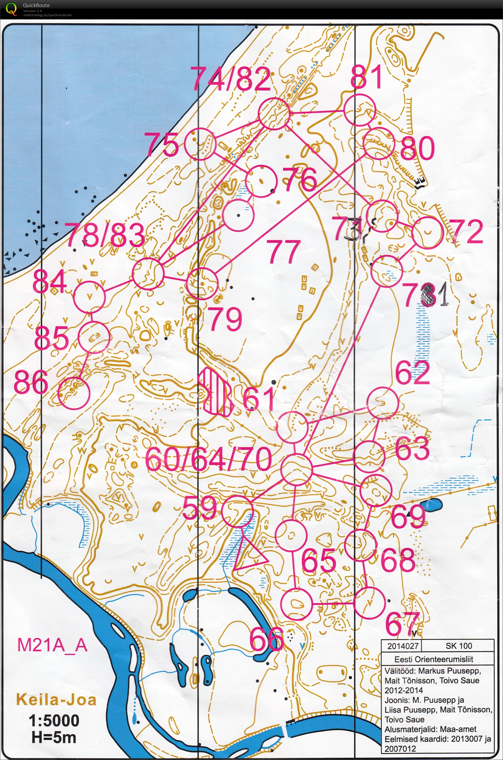 Tallinn-O-Week Day 6 (100CP contours only) (21/06/2014)