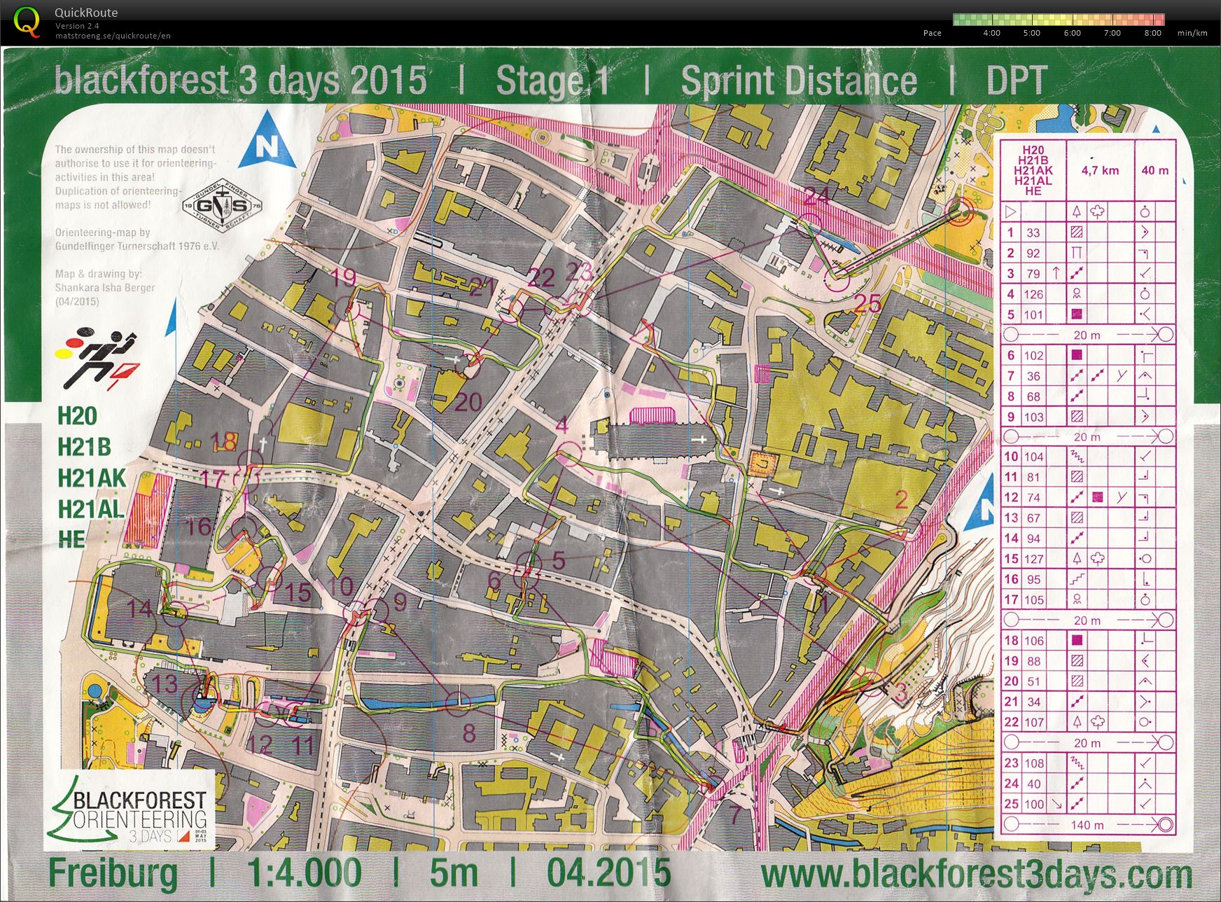 Blackforest3days - Day 1 (Sprint Freiburg) (01/05/2015)